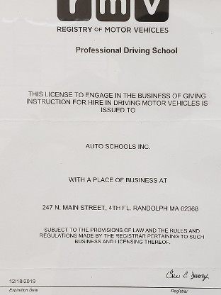 Professional Driving School License
