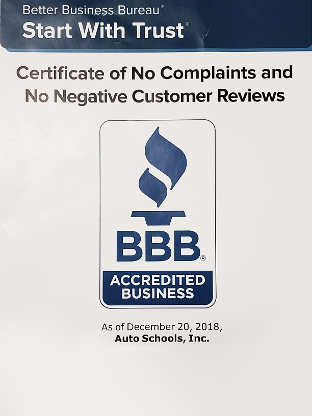 Certificate of No Complaints and No Negative Customer Reviews